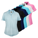 9945 Greg Norman Ladies S/S Polyester Polo Shirt