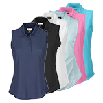 9946 Greg Norman Ladies Sleeveless Poly Polo Shirt