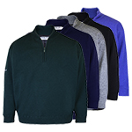 9967 PQ Lambswool Lined 1/2 Zip Neck Sweater