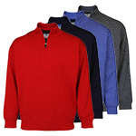 9970 PQ Merino Lined 1/2 Zip Neck Sweater