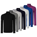 CGGF7076 Callaway Ribbed 1/4 Merino Zip Sweater